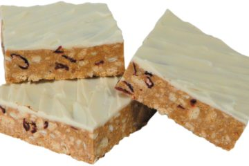 CO CRANBERRY AND WHITE CHOC NO BAKE SLICE